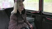 Busty euro amateur Ashley gets pounded inside the taxi and receives cumshot