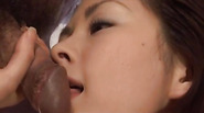 Ran Monbu gets cum on racy cans and hairy twat after gangbang