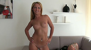 Sexy blonde chick Christine gets fucked in the fake modeling and gains cash