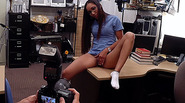 Desperate latina nurse sells her collection and gets laid for cash