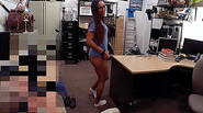 Hot brunette Nurse loves to get fucked while selling something in the pawn shop