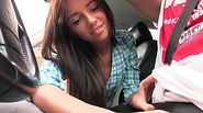 Damn hot Euro chick Gina Devine gets banged by the stranger in the backseat