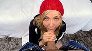 Euro teen Payton Karla Kush loves sucking and riding a huge cock