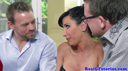 Real cougar milf gets facialized