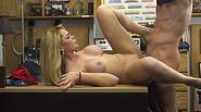 Tall blonde babe Skyla Novea fucks for enormous cash