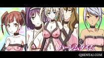 Moaning Hentai newbie tit fucks huge cock