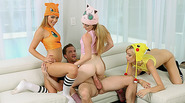 Fucking three blonde teen PokeHoes