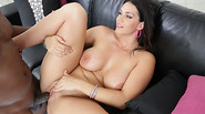 Hot babe Alison Tyler takes a black cock in her mouth
