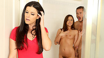 Lezzies Sophia and Alexis tag team in merry sex with hunk santa