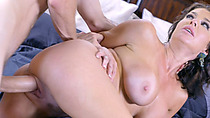 Huge tits mom squirts all over young guys monster cock