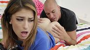 Blonde teen Kristen Scott takes an intense fuck with a huge cock
