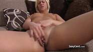 Tanned blond anal fucked on casting