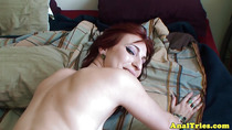 Clitpierced gf assfucked from behind
