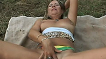 My horny mother in law lost with me in the forest for quick sex