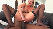 Blonde Whore With Big Round Tits Gets Asshole Ruined By Huge Black Cock