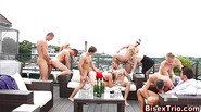 Outdoor bisex orgy anal