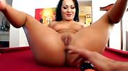 Brunette slut foursome fucking all holes big dick