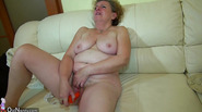 OldNanny Horny hairy old Granny masturbate with young couple