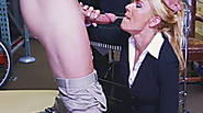 Hot blonde MILF gets paid for blowjob