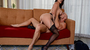 Johnny Sins fucks Peta Jensen on top of his cock