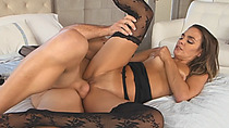 Slim blonde milf demand sex for her itchy tanned pussy