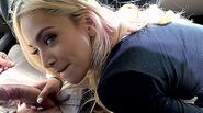 Hot stranded babe Uma Jolie returns the favor with blowjob