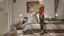 Umas stepmoms insane cock skills leads them to threesome sex