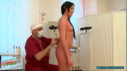 Amanda pays her doctor by giving him a blowjob in the clinic