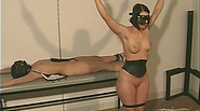 Chubby sex addict captive two lovely brunette as his sex slave