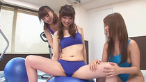 Japanese chick gets her hairy pussy probed by toy and finger