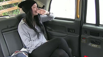 Sexy brunette Alessa takes a free dick ride on a taxi hard