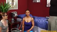 Cfnm femdom Lola Marie sucking dick