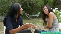 Latina milf and stepteen sharing cock