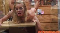 POV pawnshop fucking with blonde reality babe