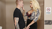 Sultry Summer Brielle gets laid and her pouty lips gets covered with cu