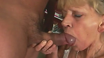 60yo granny bends over and gets pussy hammered harder than ever