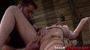 Fingered slave gagged