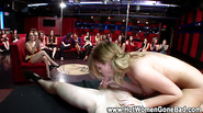 Party sluts fuck on stage