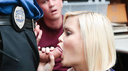 Blonde thief Madison Hart fucked infront of bf