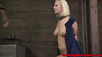 Filthy sub gets throat and cunt fucked