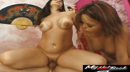 Carrie Ann and Kaci enjoy a threesome together