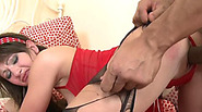 Amanda Beck roughly fucked by her black stepbro