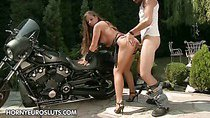 Check out this hot leather girl Chaty find his true biker...