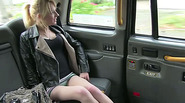 Horny Hot blonde April gets fucked as fare to the cab Driver