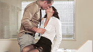 Sexy hot secretary Alexa Tomas gets her pussy banged in her boss table
