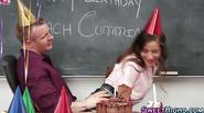 Teen eats cake off cock