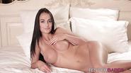 Lusty euro babe Missa masturbates her juicy snatch all alone