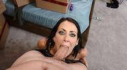 Brunette sexy hot Raegan gets banged by hunk stepson stepson