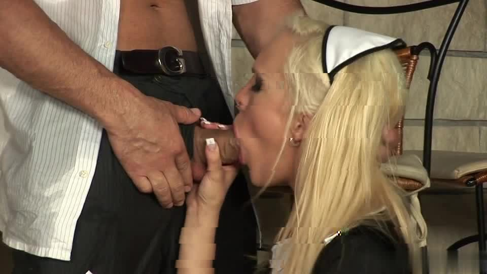 Sexy blonde waitress seduces her customer away from his date 4