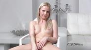 Lesbian agent sucks clit on casting